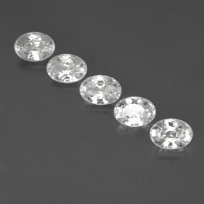 1.3ct Oval Facet White Zircon Gem (ID: 356641)
