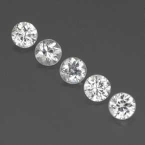 White Zircon Gem - 0.6ct Diamond-Cut (ID: 356918)