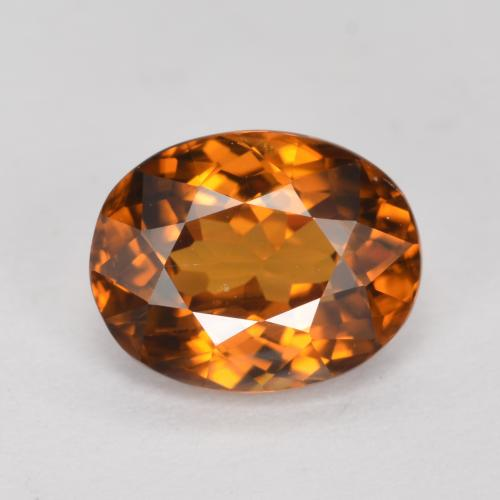 Earth Orange Circón Gema - 1.7ct Forma ovalada (ID: 358246)