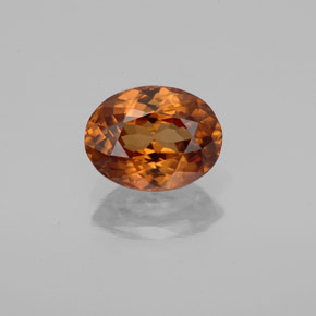 2ct Oval Facet Golden Orange Zircon Gem (ID: 358248)