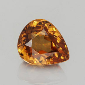 2.5ct Pear Facet Golden Orange Zircon Gem (ID: 358342)