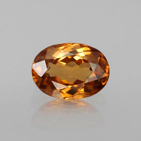 Medium-Dark Orange Zircone Gem - 1.9ct Ovale sfaccettato (ID: 358527)