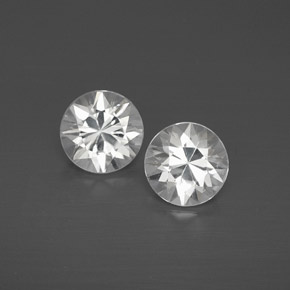 White Zircon Gem - 1.1ct Diamond-Cut (ID: 358584)