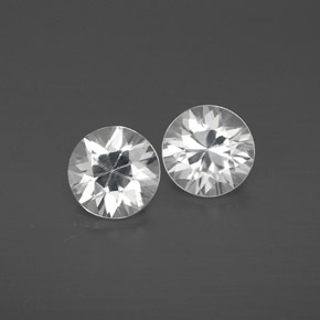 White Zircon Gem - 1.2ct Diamond-Cut (ID: 358586)