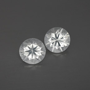 White Zircon Gem - 1.2ct Diamond-Cut (ID: 358656)