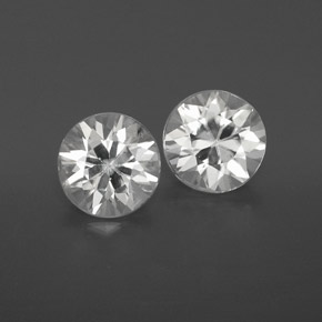 White Zircon Gem - 1.1ct Diamond-Cut (ID: 358666)