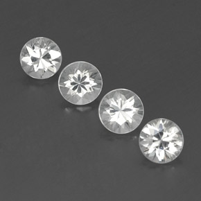 White Zircon Gem - 1.1ct Diamond-Cut (ID: 358882)