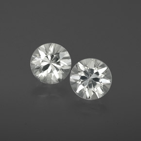 White Zircon Gem - 1.1ct Diamond-Cut (ID: 358893)