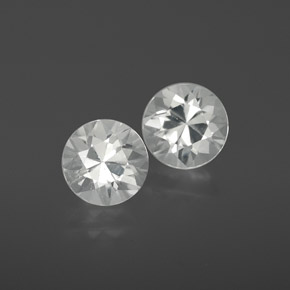 White Zircon Gem - 1.2ct Diamond-Cut (ID: 358898)