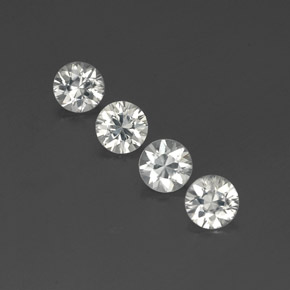 White Zircon Gem - 1.2ct Diamond-Cut (ID: 358974)