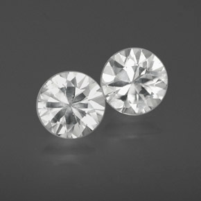White Zircon Gem - 1.2ct Diamond-Cut (ID: 358998)