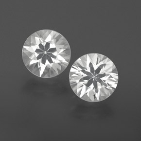 White Zircon Gem - 1.2ct Diamond-Cut (ID: 359115)