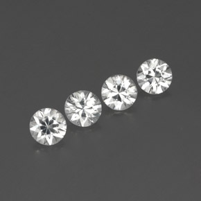 White Zircon Gem - 1.1ct Diamond-Cut (ID: 359117)