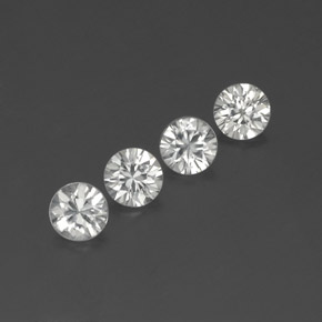 White Zircon Gem - 1.2ct Diamond-Cut (ID: 359124)
