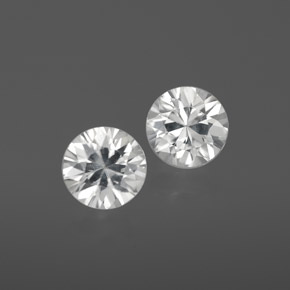 White Zircon Gem - 1.1ct Diamond-Cut (ID: 359354)