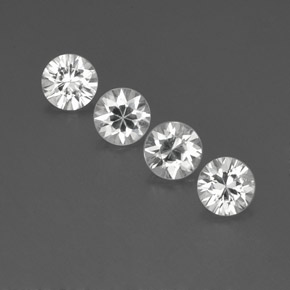 White Zircon Gem - 1.1ct Diamond-Cut (ID: 359372)