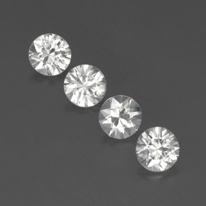 White Zircon Gem - 1.2ct Diamond-Cut (ID: 359590)