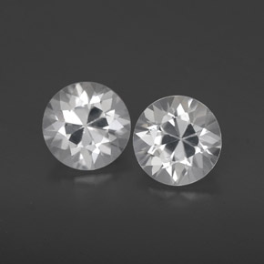 White Zircon Gem - 1.2ct Diamond-Cut (ID: 359593)