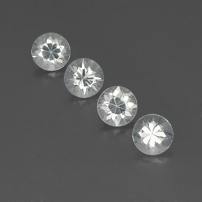 White Zircon Gem - 1.2ct Diamond-Cut (ID: 359608)