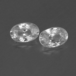 White Zircon Gem - 0.8ct Oval Facet (ID: 359932)