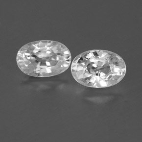 Clear White Zircon Gem - 0.9ct Oval Facet (ID: 359961)