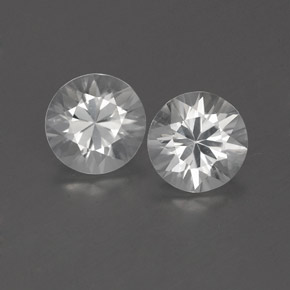 White Zircon Gem - 0.9ct Diamond-Cut (ID: 360002)