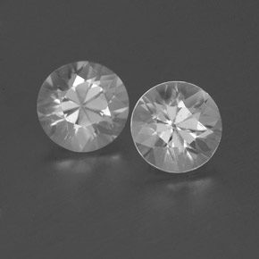White Zircon Gem - 0.9ct Diamond-Cut (ID: 360008)