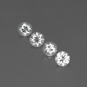 White Zircon Gem - 1ct Diamond-Cut (ID: 360014)