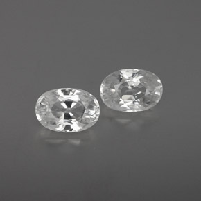 White Zircon Gem - 0.9ct Oval Facet (ID: 360265)