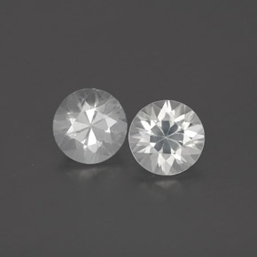 White Zircon Gem - 1ct Diamond-Cut (ID: 360277)