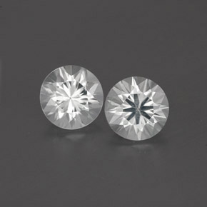 White Zircon Gem - 0.9ct Diamond-Cut (ID: 360286)