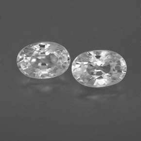 White Zircon Gem - 0.9ct Oval Facet (ID: 360327)