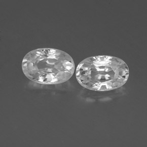 White Zircon Gem - 0.8ct Oval Facet (ID: 360415)