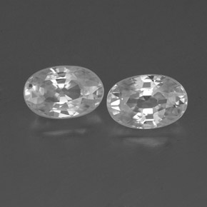 White Zircon Gem - 0.9ct Oval Facet (ID: 360481)