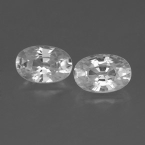 White Zircon Gem - 0.8ct Oval Facet (ID: 360488)
