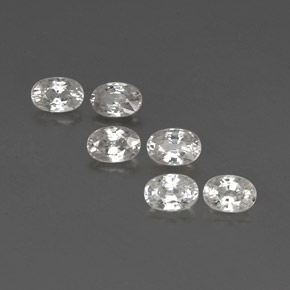 White Zircon Gem - 0.8ct Oval Facet (ID: 360502)
