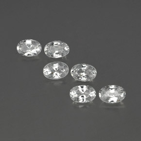 White Zircon Gem - 0.7ct Oval Facet (ID: 360579)