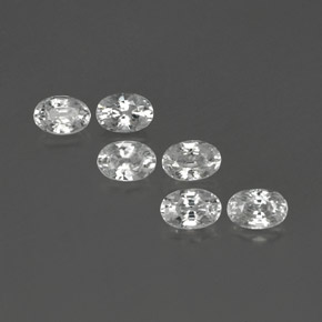 White Zircon Gem - 0.8ct Oval Facet (ID: 360723)
