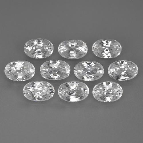0.83 ct Oval Facet White Zircon Gemstone 6.05 mm x 4.1 mm (Product ID: 360749)