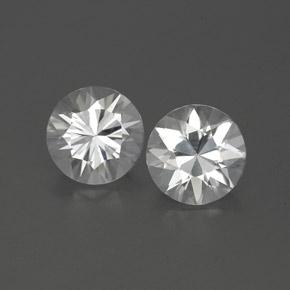 White Zircon Gem - 1.2ct Diamond-Cut (ID: 360783)