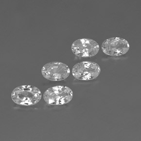 White Zircon Gem - 0.7ct Oval Facet (ID: 361123)