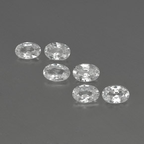 White Zircon Gem - 0.7ct Oval Facet (ID: 361194)