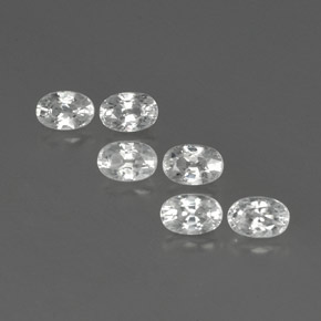White Zircon Gem - 0.9ct Oval Facet (ID: 361196)