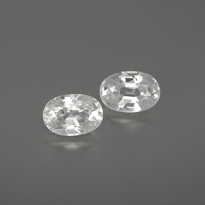 White Zircon Gem - 0.9ct Oval Facet (ID: 361513)