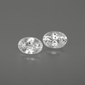 White Zircon Gem - 0.8ct Oval Facet (ID: 361515)