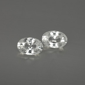 White Zircon Gem - 0.8ct Oval Facet (ID: 361544)