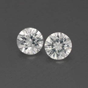 White Zircon Gem - 0.9ct Diamond-Cut (ID: 361985)