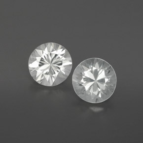 White Zircon Gem - 0.9ct Diamond-Cut (ID: 362211)