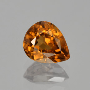 Medium-Dark Orange Circón Gema - 1.8ct Corte en forma de pera (ID: 365533)