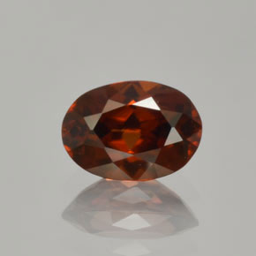 Deep Red Zircon Gem - 1.4ct Oval Facet (ID: 365547)